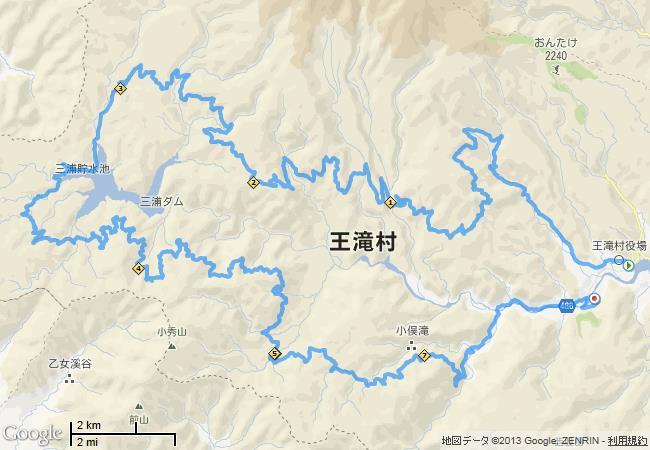 おんたけウルトラトレイル100K 2013-07-14, 地図.jpg