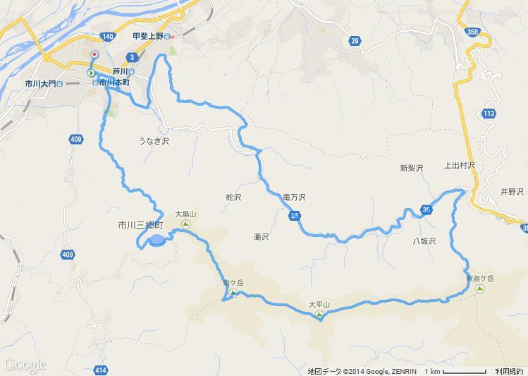 四尾連稜線トレイルラン 2014-10-19.jpg